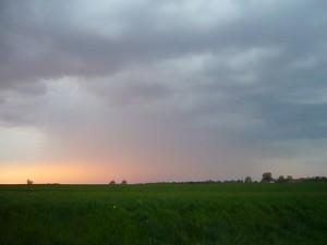 Schauer am Abend des 27. April über Nordwestmecklenburg.