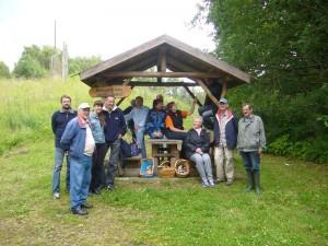 Fototermin zum Abschluß unserer Wanderung durch die Biendorfer Tannen am 11. Juli 2009.