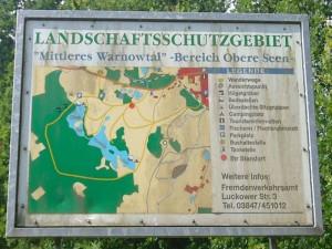 Das Gebiet gehört zum Landschaftsschutzgebiet Mittleres Warnowtal.