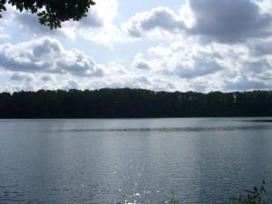 Herbstlich anmutender Eindruck vom Deichelsee am heutigen 29. August 2009.