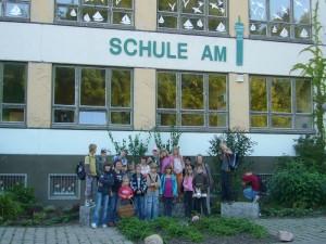 Treff zur Pilaexkursion an der schweriner Schule am Fernsehturm am 09.09.2009.