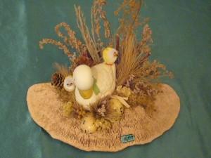 Ente und Küken auf Eichenwirrling für 8.00 €.