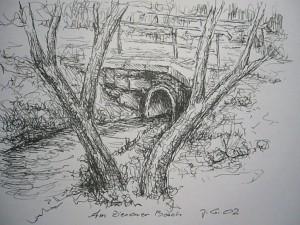 Brücke über den Zierower Bach aus dem Jahre 2002.