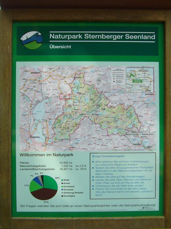 Unser Wandergebiet gehörte teilweise schon zum Naturpark Sternberger Seenland.