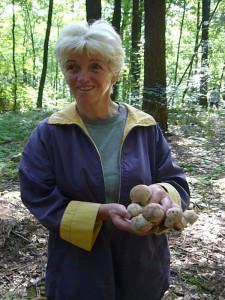 Freuen über so schöne Perlpilze kann sich hier auch Bärbel Wirth aus Gallentin. 21. August 2010.