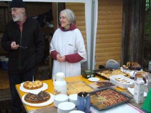Ganz herzlichen dank gebührt dieser netten Dame für ihren selbsgebackenen Kuchen (ohne Pilze!), der ganz vorzüglich mundete