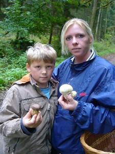 Und hier sind es junge Anis - Champignons und ein lecker ausseheder Röhrling, der aber lieber nicht die Speise bereichern sollte, der Gallen - Röhrling!