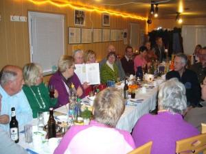 Viel Aufmersam bei den Ausführungen von Frau Schurig zum Thema Judasohren Standort- und Wirtserfassung in M-V. 11.12.2010.