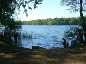 Die gefühlte Wassertemperatur war zu Baden einfach noch zu niedrig. Der Neumühler See zählt zu den tiefsten und saubersten Seen in Mecklenburg. Selbst im Hochsommer, wenn die meisten anderen Seen keine erfrischung mehr bringen, soll es hier immer noch angehm erfrischend sein.
