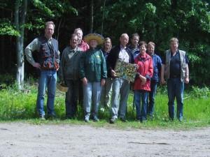 Bei sehr angenehmen Wanderwetter waren heute 10 Pilzfreunde im Detershägener Wald erfolgreich auf Pilzpirsch.