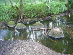 Sanft wurden diese Steine vom Wasser der Beke über viele Jahre hindurch abgeschliffen.