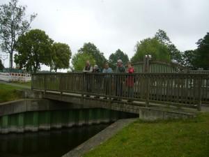 Am Park- und Rastplatz an der Mildenitzbrücke in Sternberger Burg starteten wir unsere Tour. 26.06.2011.