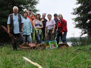 Das war die kleine Gruppe um Irena Dombrowa (rechts), die mit ihrem Gebiet und ihrer Ausbeute recht zufrieden war. 27.08.2011. Foto: Sina Mews.