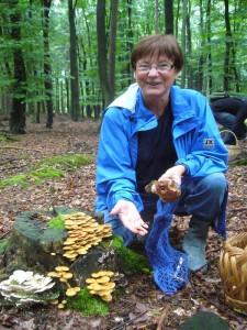 Im benachbarten Buchenstück fand Pilzfreundin Erika Wittenhagen die ersten Stockschwämmchen ihres Lebens. Ich konnte es kaum glauben!