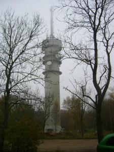 Am markanten Funkturm bei Schlemmin begann und endete unsere heutige Pilzwanderung.