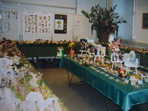 Pilzausstellung im Jahre 2001 im Raum 28 des Wismarer Rathauses mit Unterstützung des Umweltamtes.