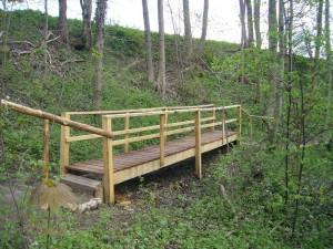 Viele Brücken und Stege wurden im Zuge des neu entstehenden Naturlehrpfades ganz frisch erneuert.