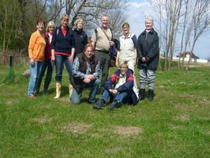 Und zum Schluß wieder unser abschließendes Gruppenbild aller neun Teilnehmer Hellbachtal