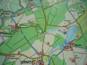 Beginnend im Wald westlich von Kobande, folgten wir heute wieder dem Verlauf der Warnow bis nach Gädebehn.
