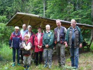 Und zum Schluß wie gehabt wieder unser Gemeinsammes Abschlußfoto. Wie man sieht waren heute acht Pilzfreunde im Lübberstorfer Forst bei Neukloster unterwegs. 16.06.2012.