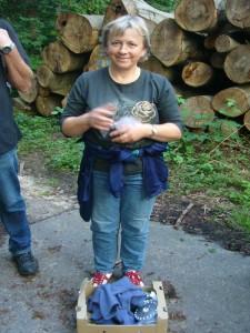 Schließlich hatten Jonas und Mama Irena auch die Idee zu unserer Nachtwanderung.