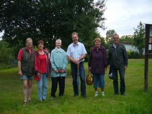 Unser Gruppenfoto entstand zwar schon zu Beginn unserer Wanderung, soll aber an diesen kleinen Bericht am Schluss erscheinen. Ich Denke, auch ohne viele Pilze war es ein sehr schöner und angenehmer Abendspaziergang in Wismar`s Randlage. 28.08.2012.