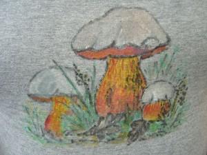 Mit dieser Zeichnung eines unbekannten Künstlers auf dem Hemd unseres heutigen Reverenten wollen wir das August - Tagebuch 2012 ausklingen lassen, den unweit von unserem Seminarort gibt es dieses seltene Motiv auch mit viel Glück in natura zu studieren.