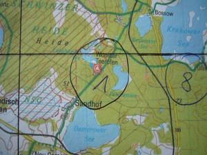 Es wurden nein Gebiete für unsere Exkursionen ausgesucht. Ich schloss mich mit Irena und Jonas der Gruppe um Dr. Duty an. Wir fuhren in die Wooster Heide zwischen Sandhof und Wooster Teerofen.