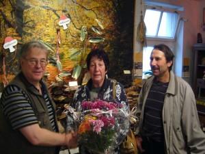 Besonders gefreut habe ich mich auch über diesen liebevoll zusammengestellten Blumenstrauss, den mir Angelika Boniakowski zusammen mit ihrem Mann zum 20. Jubliläum überreichte. Ich bedanke mich ganz herzlich!