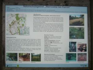 auf der Informationstafel ist ein wenig Hintergrundwissen zum Naturschutzgebiet Warnowtal