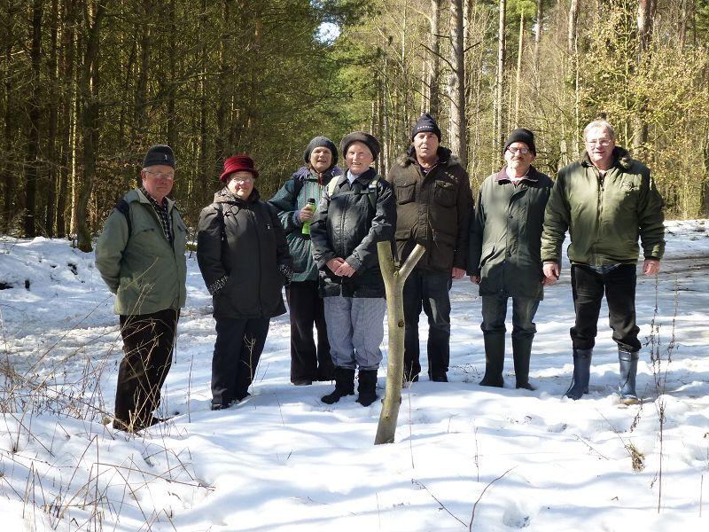 Eine kleine Truppe von sieben Pilz- Natur- und Wanderfreunden eräffneten heute im Wald zwischen Flessenow und Alt Schlagsdorf die Pilzsaison 2013. Ganz links sehen wir Berhard Virgens und wir möchten uns nochmals für die wunderbare Führung durch dieses Gebiet ganz herzlich bedanken!