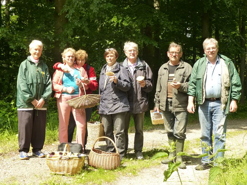 Für alle sieben Teilnehmer war es zwar eine pilzarme, aber bei sehr angehmen Wetter und einer wunderschönen Landschaft sicherlich eine schöne Wanderung an frischer Ostseeluft. 15.Juni 2013.