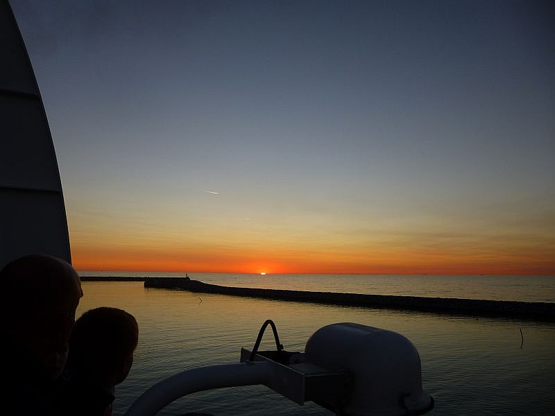 Sonnenuntergang auf der Nordsee am 19. Juli 2013.