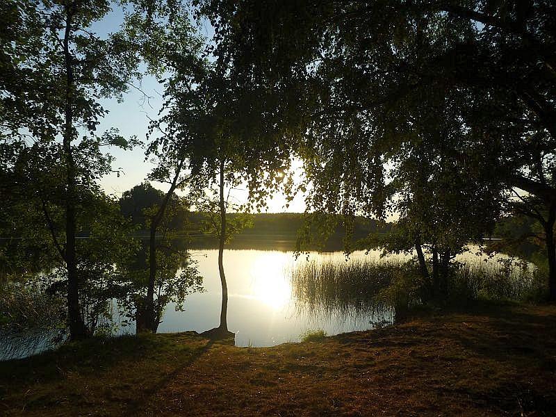 Die romantisch gelegene Badestelle am Südostufer des Wustrwsees bei Sternberg war heute Ausgangspunkt zu unserer 2. Nachtwanderung.