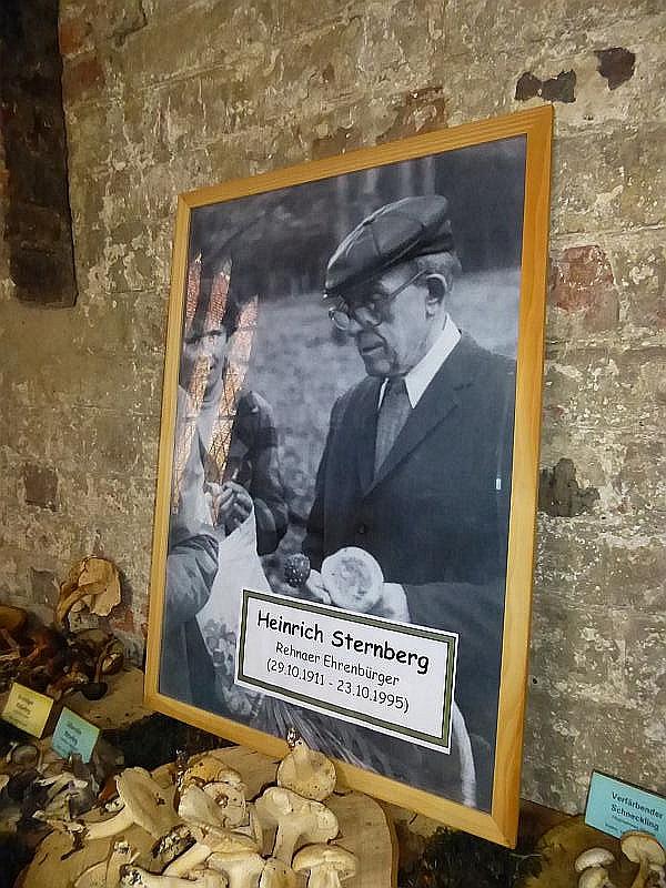 Alle aktivitäten des Rehnaer Pilzvereins stehen im Zeichen des immer noch stadtbekannten Lehrers und Bezirks - Pilzsachverständigen Heinrich Sternberg. Sein Wirken klingt