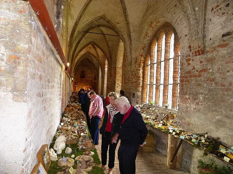 Nur kurzzeitig war auch mal etwas Luft in den Gängen, meist drängten sich die Besucher hier dicht an dicht und mit Freude konnten die Rehnaer Pilzfreunde in diesem Jahr einen Besucherrekord vermelden.