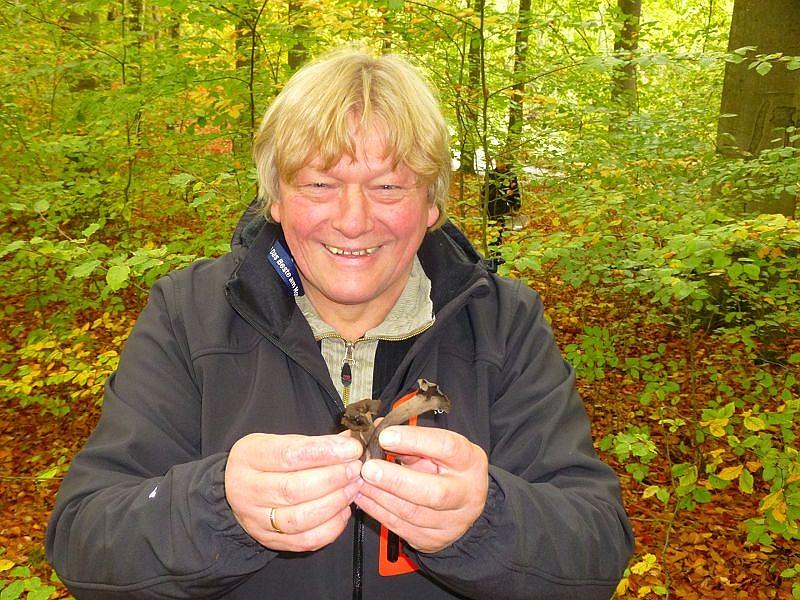 Egon Schmeißer aus Berlin freut sich über die ersten Herbsttrompeten seines Lebens. In den sandigen Wäldern um Berlin und in der Mark Brandenburg sind sie kaum zu finden.