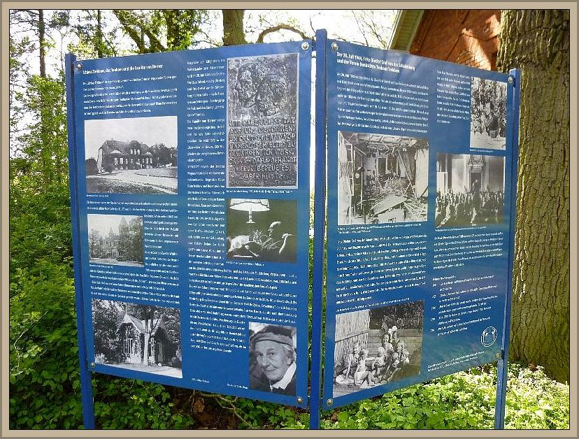 Die nebenstehende Schautafel gibt in Wort und Bild Auskunft über die damaligen Geschehnisse.