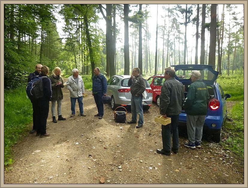 Bei der Ankunft im Wald reichte ich zunächst wie immer meine Teilnehmerliste herum und bat um die Teilnahmegebühr von 5 Euro.