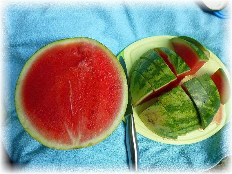 Und bei der Hitze besonders erfrischend und wohltuhend die wasserreichen Melonen.