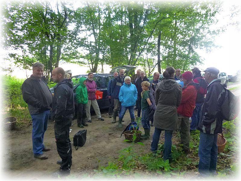 Es war heute wirklich eine ansehliche Truppe, die sich zu unserer Wanderung am Waldrand bei Wendorf einfanden. Es war auch kein Wunder, denn das Wetter zeigt sich schon seit geraumer Zeit recht herbstlich.
