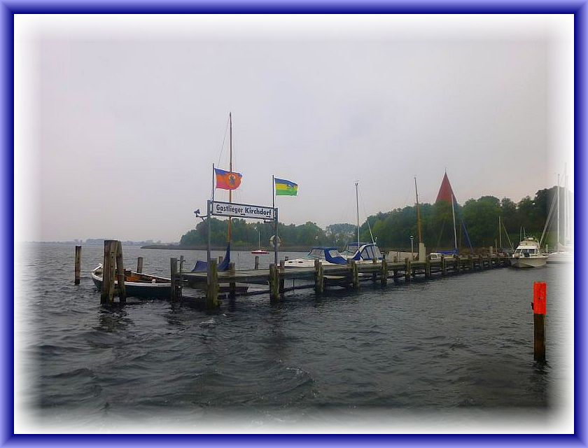 Die Ankunft im Hafen von Kirchdorf, der Inselhauptstadt.