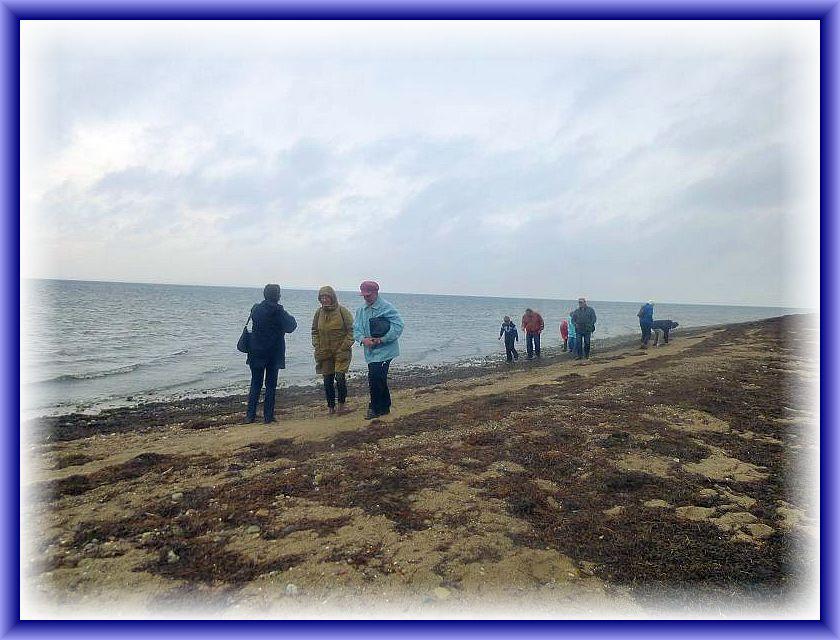 Kurzer Spaziergang, der Regen hatte gerade aufgehört, am FKK - Strand von Wangern. Der letzte Sturm hatte jede Menge Seegras an diesem naturbelassenen Strand angespült.