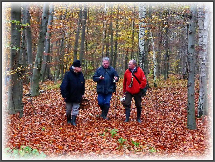 Von links: Jochen, Ulrich und Klaus beim Fachsimpeln.