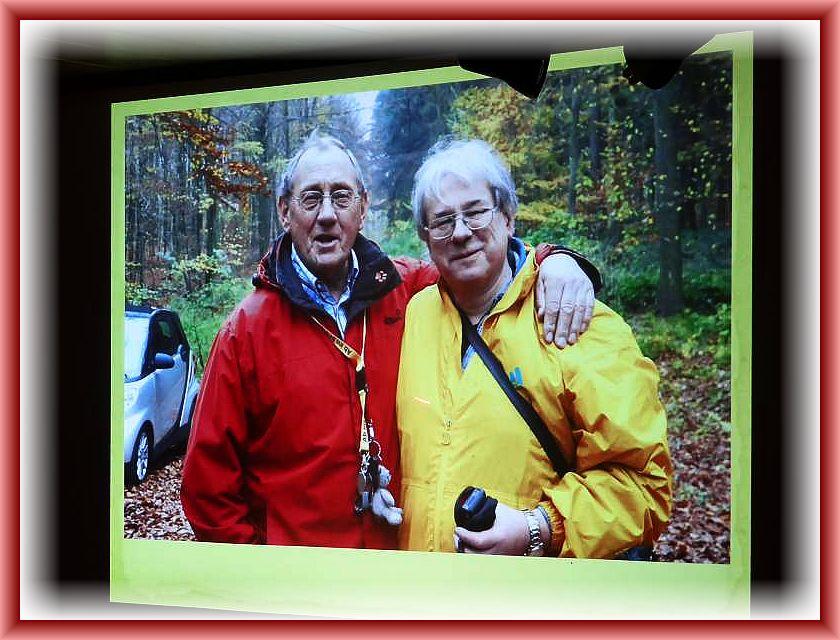 Pilzberater Klaus Warning aus Bützow und meine Wenigkeit auf der letzten öffentlichen Pilzwanderung des Jahres.
