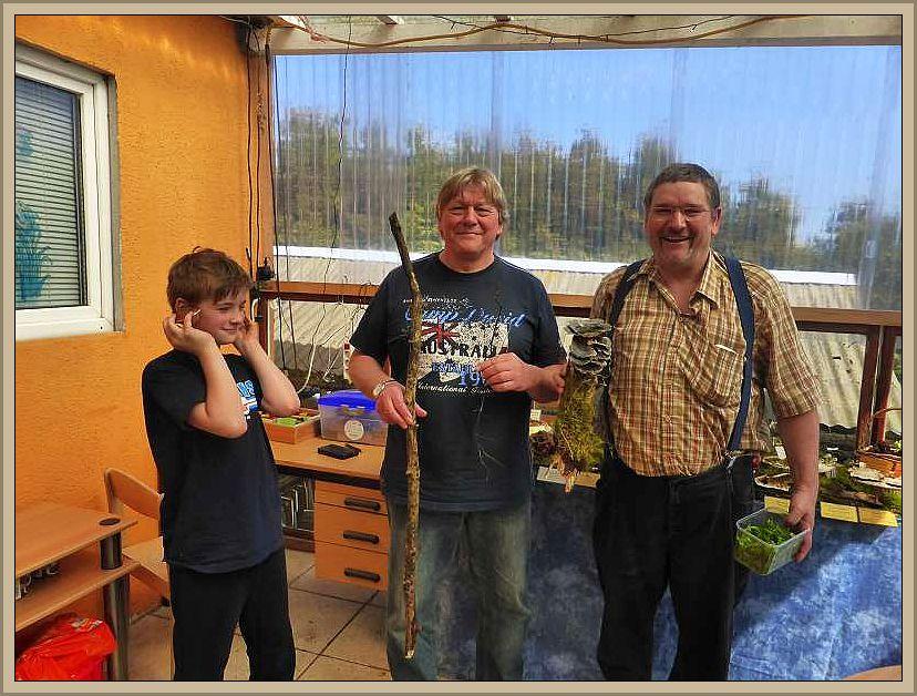 Natürlich waren auch unsere Stammgäste Egon und Thomas aus Berlin wieder mit dabei. Hier zusammen mit Jonas.