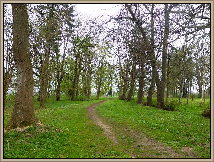 Ausgehend von der alten Parkanlage bei Glashagen folgten wir diesem Wanderweg, der direkt in das Quellental hinunter führt.