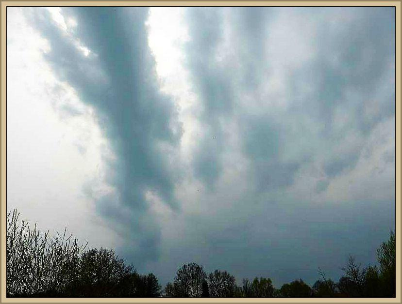 Genau in diesem Moment verdunkelte sich der Himmel und der lang ersehnte Regen setzte ein.