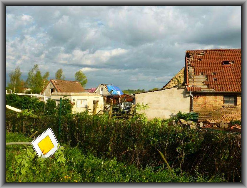 Ein Bild der Verwüstung im kleinen Örtchen Thurow, aber auch in einigen Bereichen von Brüel.