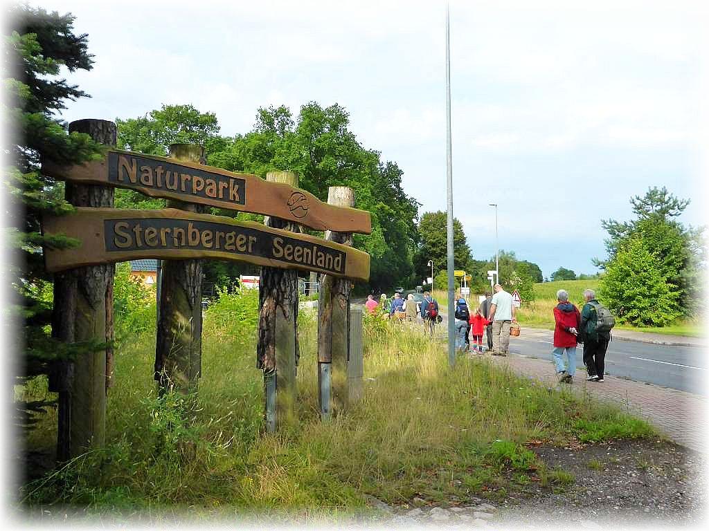 Nach dem die Autos umgesetzt waren starteten wir von Borkow aus zu unserer Wanderung. Das Gebiet gehört noch zum Naturpark Sternberger Seenland, grentzt aber im weiteren Verlauf an den Naturpark Nossentiner/Schwintzer Heide und gehört zu dem auch noch zum Dobbertiner Seengebiet.